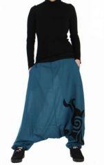 Sarouel mixte tribal bleu 73581