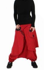 Sarouel ethnique chagy rouge 73610