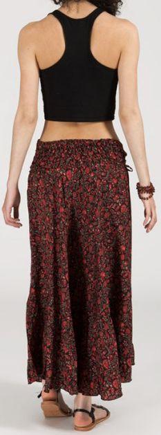 Agréable jupe longue ethnique et originale - Bordeaux - Baia 272098