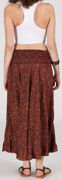 Agréable jupe longue ethnique et originale - Rouge/Orangé - Baia 272096