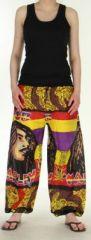 Agréable Pantalon coloré et imprimé Bob Marley Reggae 1 272582