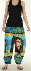 Agréable Pantalon coloré et imprimé Bob Marley Reggae 2 272584