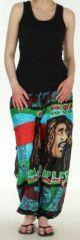Agr�able Pantalon color� et imprim� Bob Marley Reggae 3 272586
