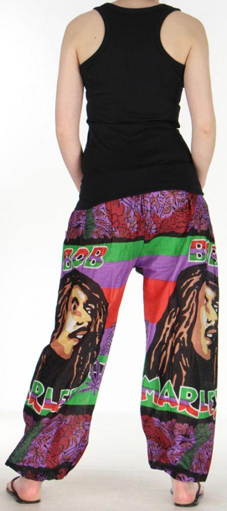 Agréable Pantalon coloré et imprimé Bob Marley Reggae 4 272589