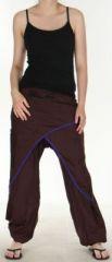 Agr�able Pantalon ethnique femme et pas cher Marron Kadhi n5 273073