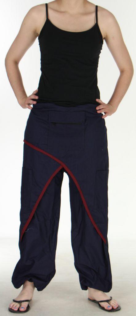 Agréable Pantalon femme ethnique et pas cher Bleu Marine Kadhi n3 273077
