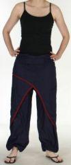 Agr�able Pantalon femme ethnique et pas cher Bleu Marine Kadhi n3 273077