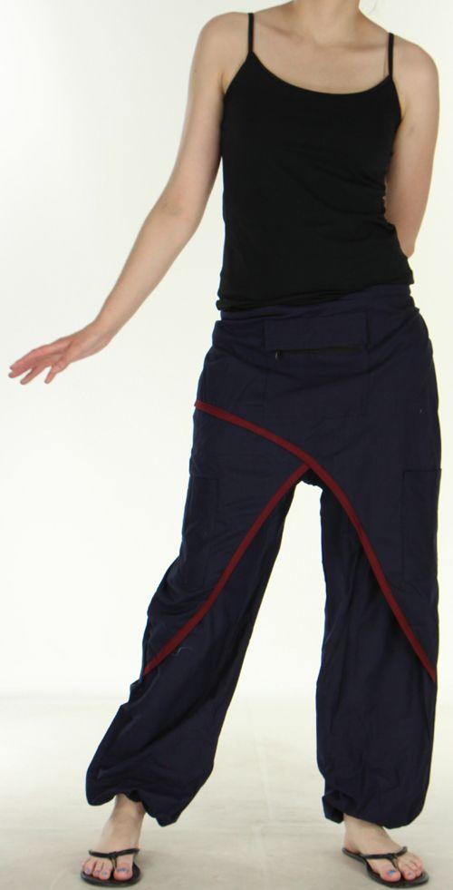 Agréable Pantalon femme ethnique et pas cher Bleu Marine Kadhi n3 273078