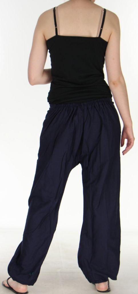 Agréable Pantalon femme ethnique et pas cher Bleu Marine Kadhi n3 273079