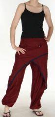 Agr�able Pantalon femme ethnique et pas cher Bordeaux Kadhi n1 273082