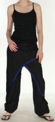 Agr�able Pantalon femme ethnique et pas cher Noir et Bleu Kadhi n2 273080
