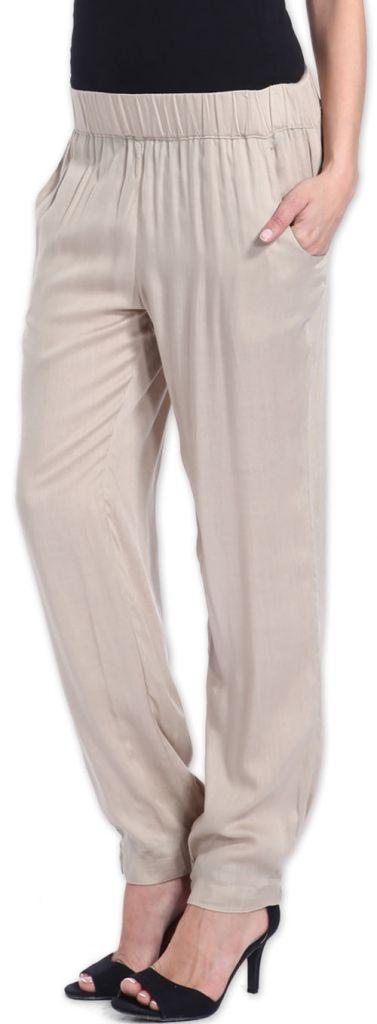 Agréable pantalon femme fluide et léger Beige Bety 273271