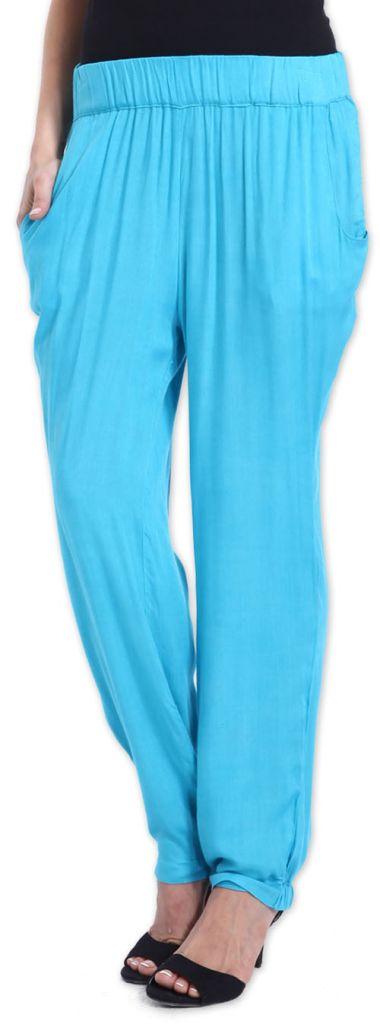 Agréable pantalon femme fluide et léger Bleu Bety 273279