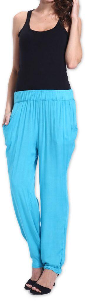 Agréable pantalon femme fluide et léger Bleu Bety 273281