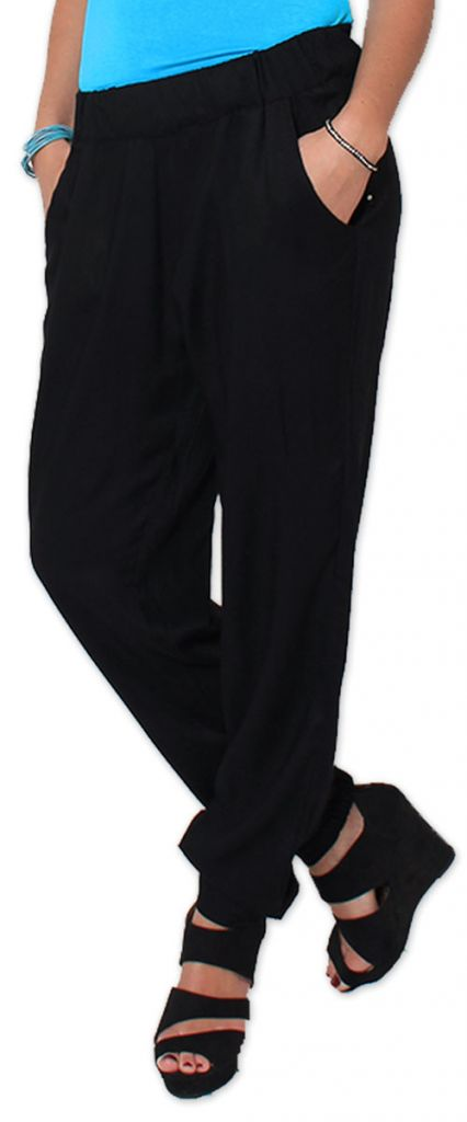 Agréable pantalon femme fluide et léger Noir Bety 273283