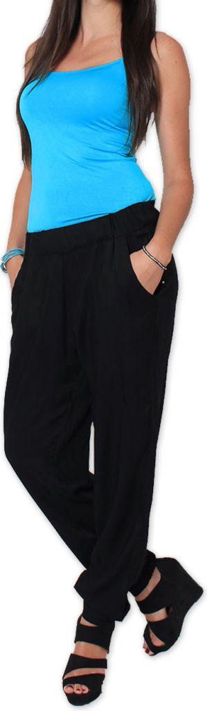Agréable pantalon femme fluide et léger Noir Bety 273285