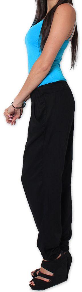 Agréable pantalon femme fluide et léger Noir Bety 273286
