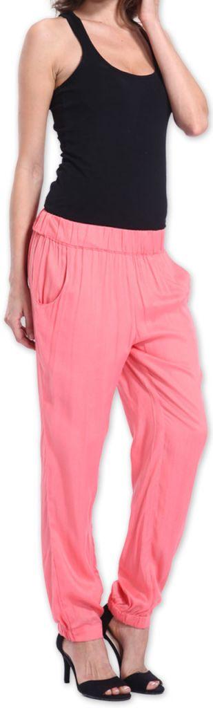 Agréable pantalon femme fluide et léger Rose Bety 273277