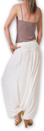 Authentique sarouel femme ethnique d'Inde Blanc Fanny 273464