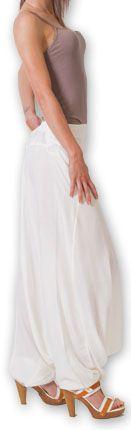 Authentique sarouel femme ethnique d'Inde Blanc Fanny 273465
