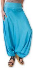 Authentique sarouel femme ethnique d'Inde Bleu Fanny 273459