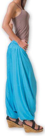 Authentique sarouel femme ethnique d'Inde Bleu Fanny 273461