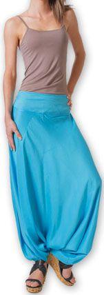 Authentique sarouel femme ethnique d'Inde Bleu Fanny 273462