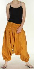 Authentique sarouel femme ethnique d'Inde Jaune Ocre Weke 273086