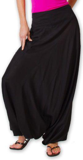 Authentique sarouel femme ethnique d'Inde Noir Fanny 273467