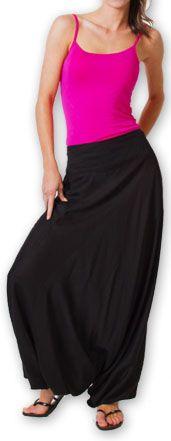 Authentique sarouel femme ethnique d'Inde Noir Fanny 273470