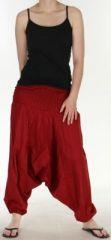 Authentique sarouel femme ethnique d'Inde Rouge fon�� Weke 273099