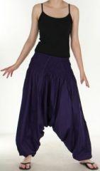 Authentique sarouel femme ethnique d'Inde Violet Weke 273092