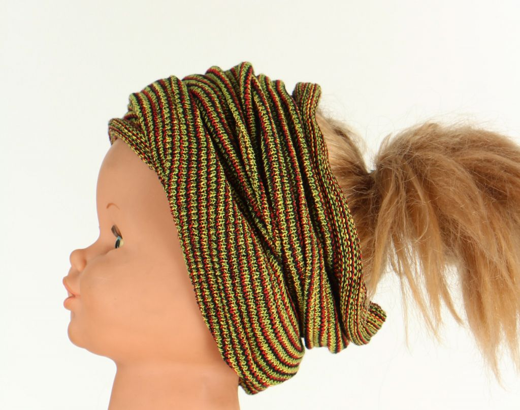 Bandeau cheveux transformable en tour de cou 2en1 267233