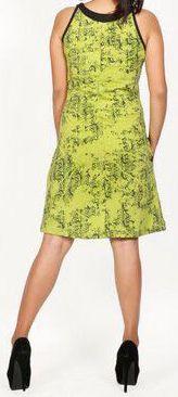 Belle robe courte d'été - sans manches - ethnique et colorée- Anis - Stiva 272080
