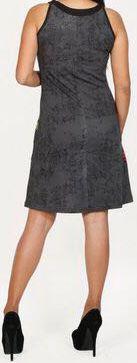 Belle robe courte d'été - sans manches - ethnique et colorée- Noire - Stiva 272078