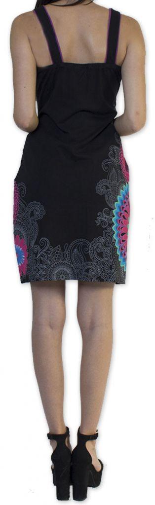 Belle robe d'été courte tendance et ethnique Noire Larae 273536