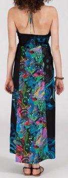Belle Robe longue ethnique et originale - noire - Valencia 271895