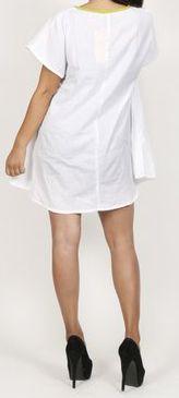 Belle tunique d'été originale pour femme - Blanche - Celina 272036