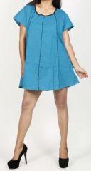 Belle tunique d'�t� originale pour femme - Bleue - Celina 272029