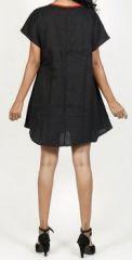 Belle tunique d'été originale pour femme - Noire - Celina 272034