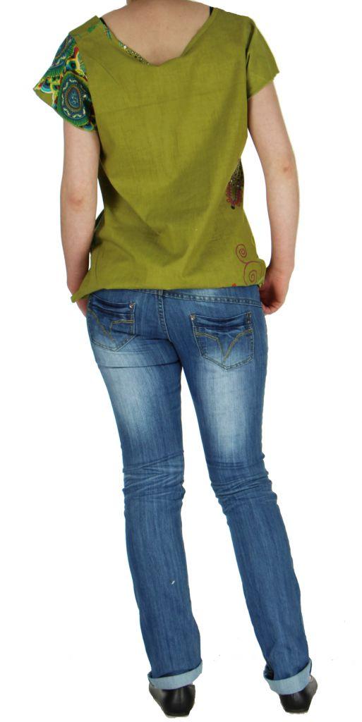 Blouse colorée pour femme kaki Nabilly