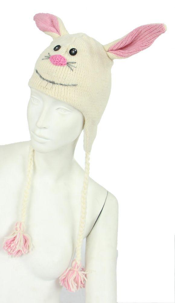 Bonnet lapin en laine doublé polaire 248061
