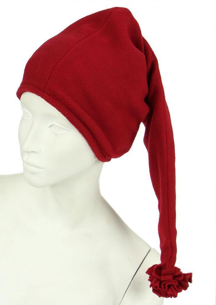 Bonnet long en polaire bordeau 248058
