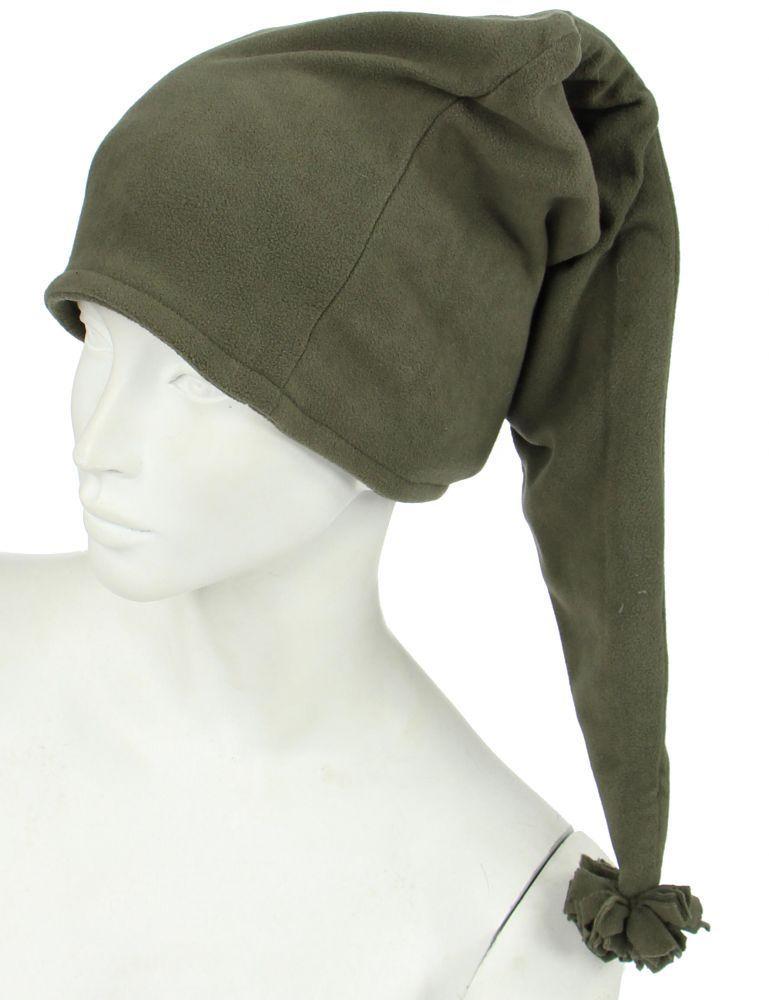 Bonnet long en polaire kaki 248054
