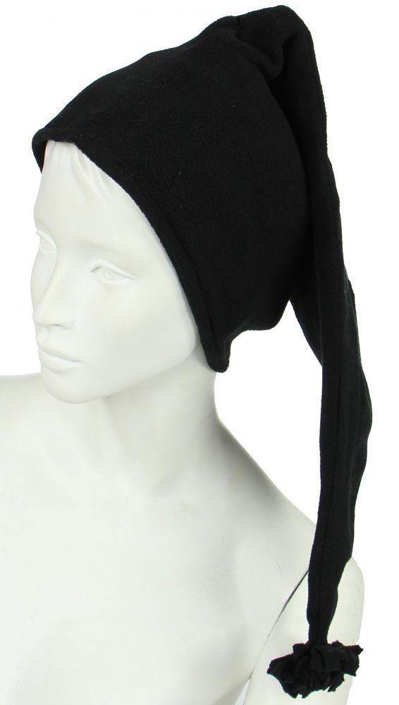 Bonnet long en polaire noir 248055