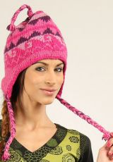 Bonnet Mixte en Laine Ethnique et Original Gularia Rose 277300