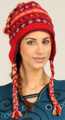 Bonnet Mixte en Laine Ethnique et Original Gularia Rouge 277301