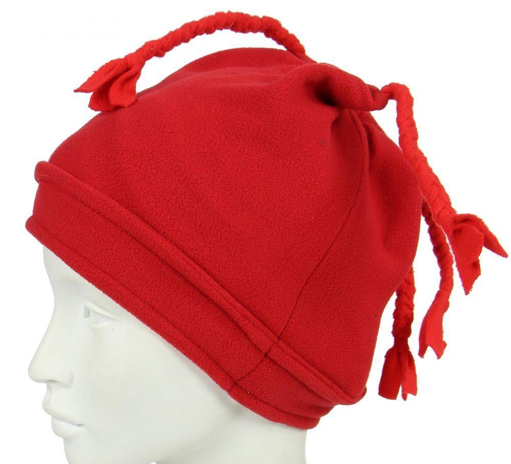 Bonnet original en polaire rouge 247887