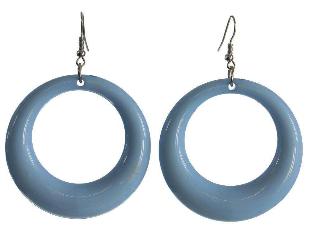 Boucles d\'oreilles bulle en acrylique bleue 247401