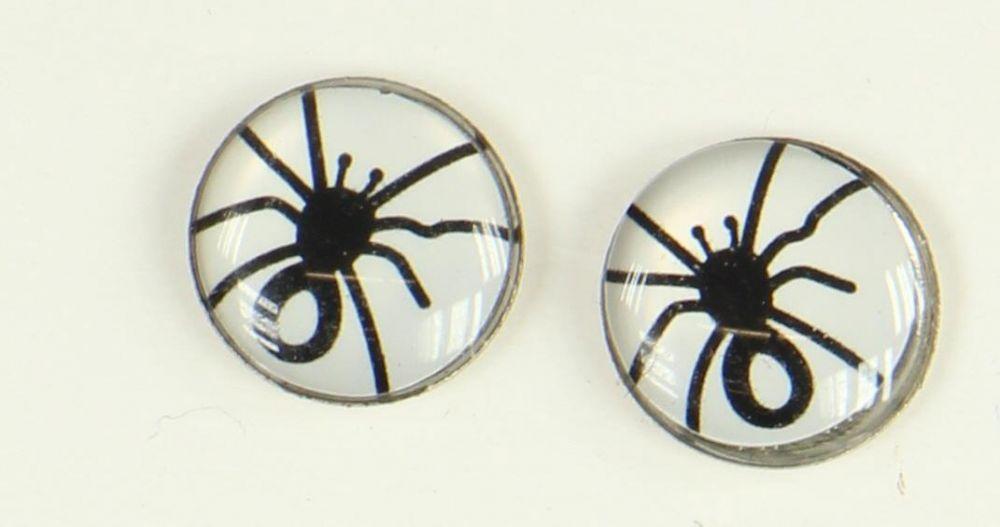 Boucles d\'oreilles clou araignée blanche 249360